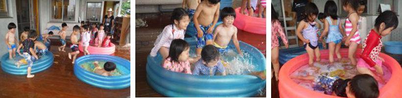 念願のプール